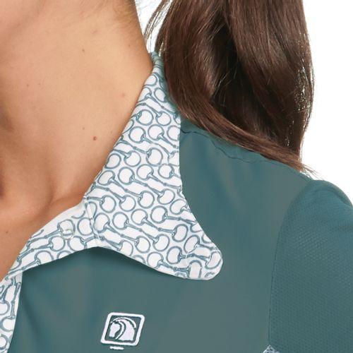Romfh Women's Signature Bits Long Sleeve Show Shirt - Waterfall Solid