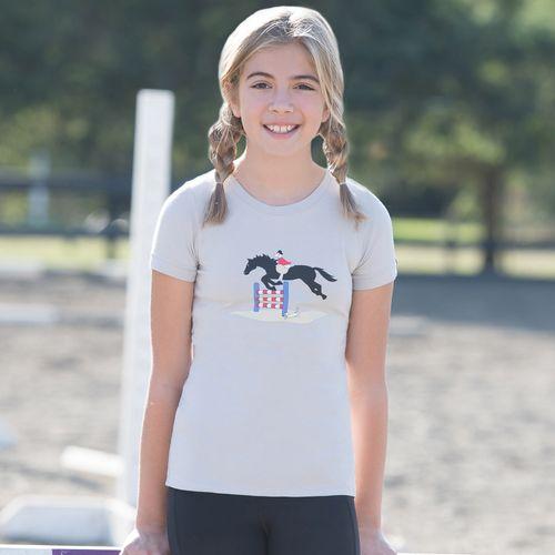 Irideon Kids' Pup N Pony Tee Shirt - French Grey