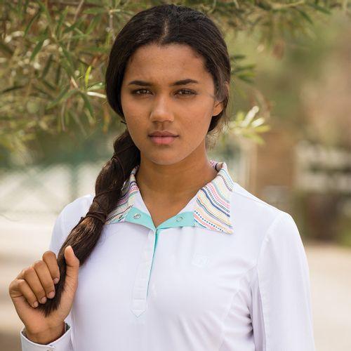 Romfh Women's Lindsay Long Sleeve Show Shirt - White/Multi Stripe