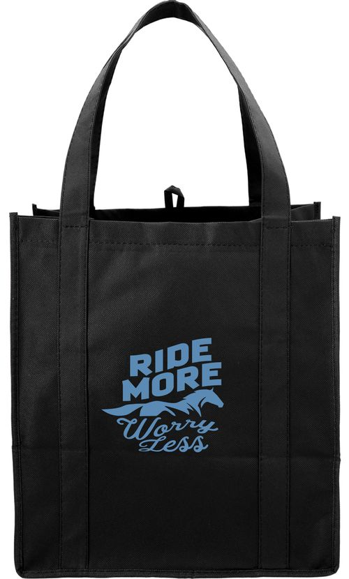 Kelley and Company Ride More Worry Less Grocery Tote - Black