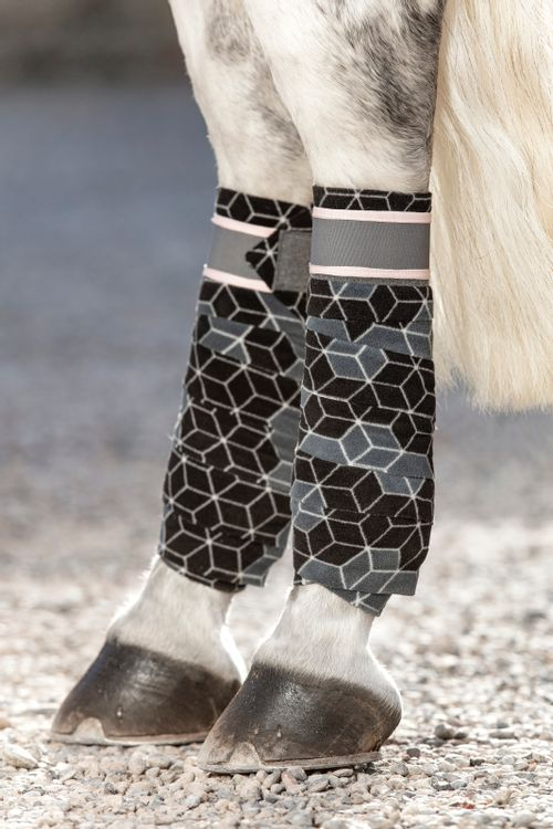 Horseware Four Pack Fashion Fleece Bandages - Hexagon Print
