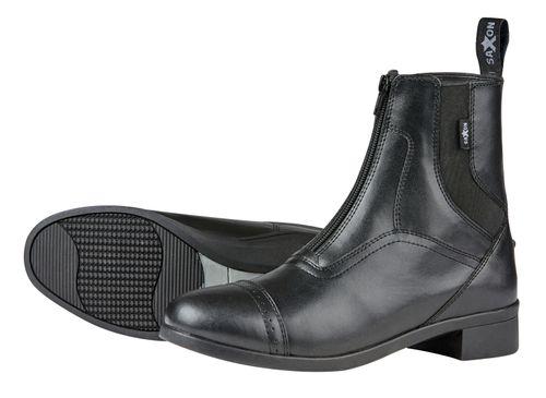 Saxon Kids' Syntovia Zip Paddock Boots - Black