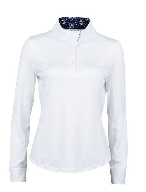 Dublin Women's Ria Long Sleeve Competition Shirt - White/Navy