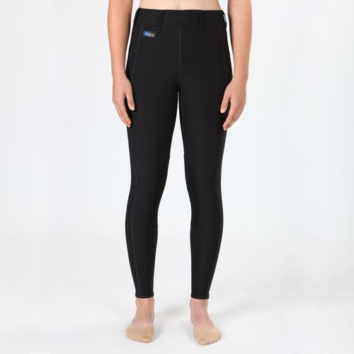 Irideon Kids' Issential Knee Patch Tights - Black