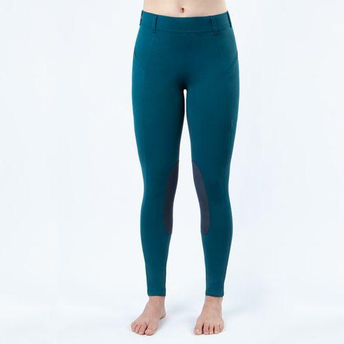 Irideon Kids' Bending Line Knee Patch Tights - Baltic Blue