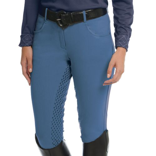 Ovation Women's SoftFlex GripTec Full Seat Breeches - Dusk Blue