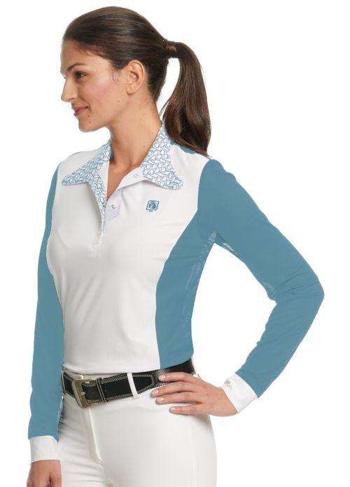Romfh Women's Signature Bits Long Sleeve Show Shirt - White/Shadow Blue