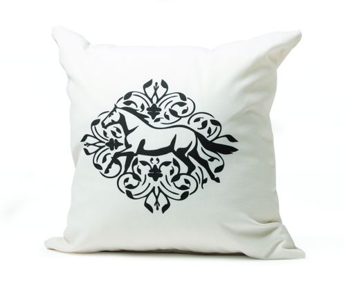 Kelley and Company Gallop Floral Throw Pillow - White