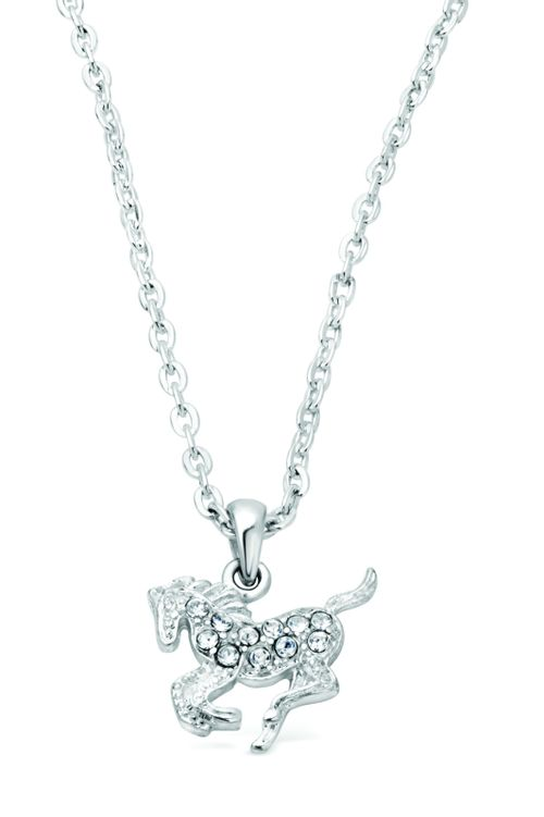 Kelley and Company Galloping Horse Necklace - Clear