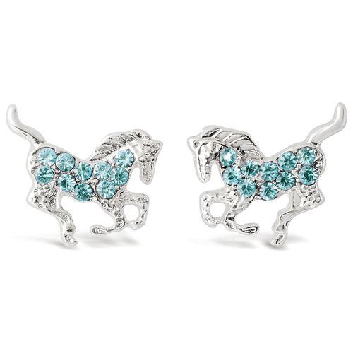 Kelley and Company Galloping Horse Earrings - Aqua