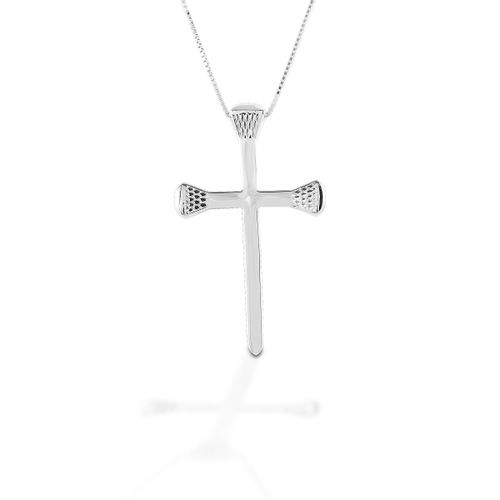 Kelly Herd Horseshoe Nail Cross Necklace - Sterling Silver