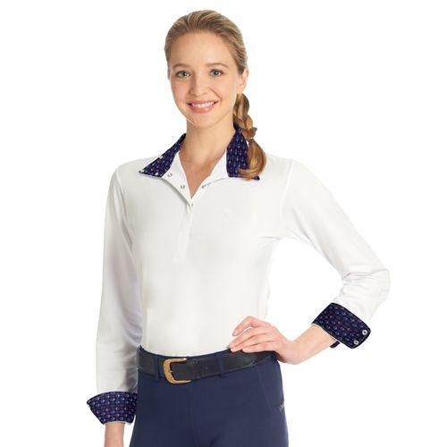 Ovation Women's Jorden Full Snap Show Shirt - White/Martini