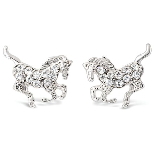 Kelley and Company Galloping Horse Earrings - Clear