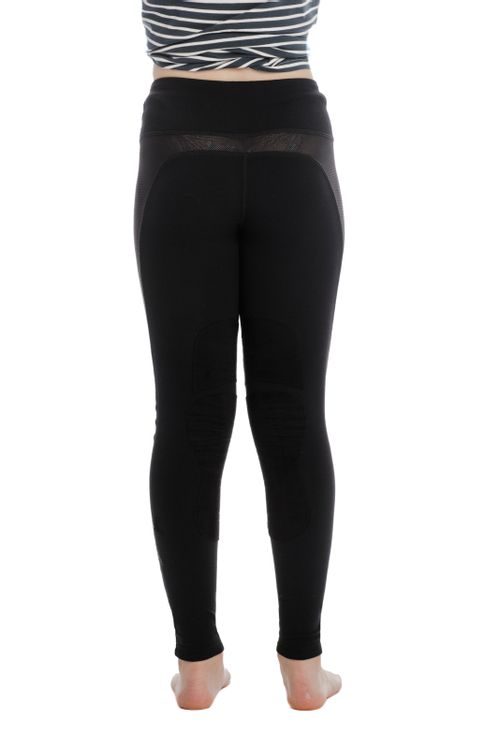 Horseware Kids' Knee Patch Riding Tights - Black