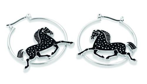Kelley and Company Dapple Horse Earrings - Black