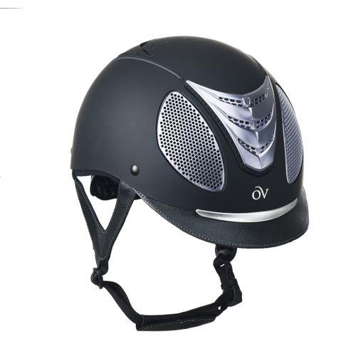 Ovation Jump Air Helmet - Black Matte/Silver Trim