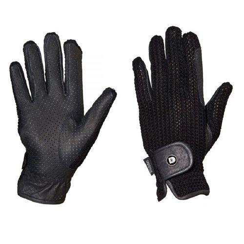 Dublin Cool Crochet Riding Gloves - Black