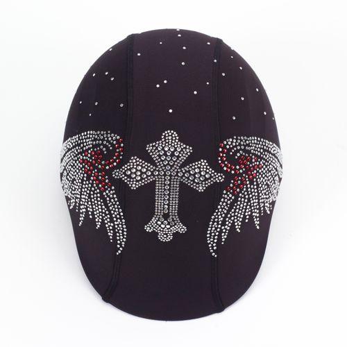 Helmetra Helmetra Designer Helmet Cover - Cross Wings
