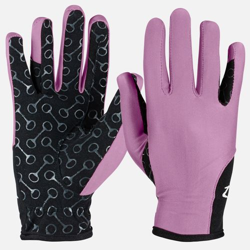Horze Kids' Riding Gloves with Silicone Palm Print - Grape Juice Purple