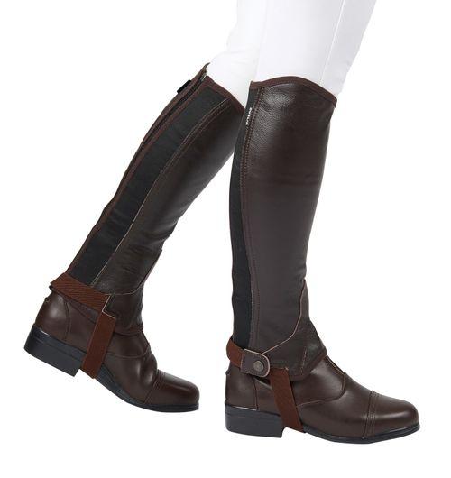 Dublin Flexi Leather Half Chaps II - Brown