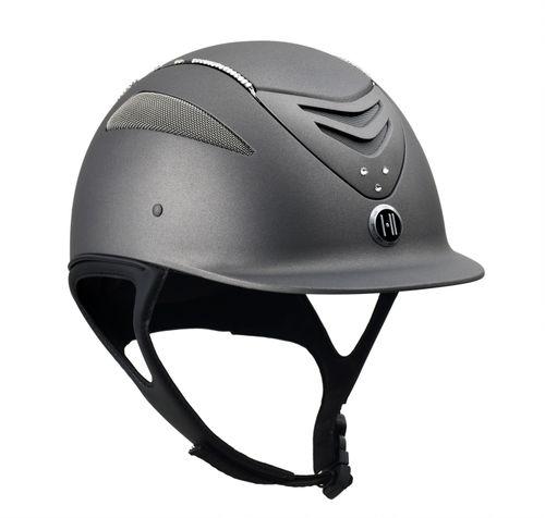 One K Defender w/Swarovski Helmet - Grey w/Clear Stones