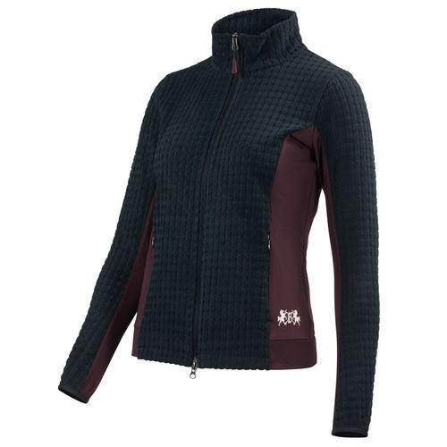 B Vertigo Women's Darcey Technical Fleece Jacket - Dark Navy/Vineyard Wine