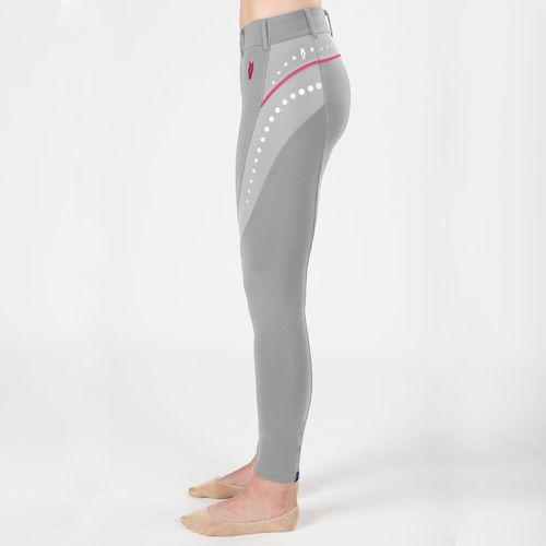 Irideon Kids' Mesh Tech Knee Patch Tight - Dove Grey/Azalea