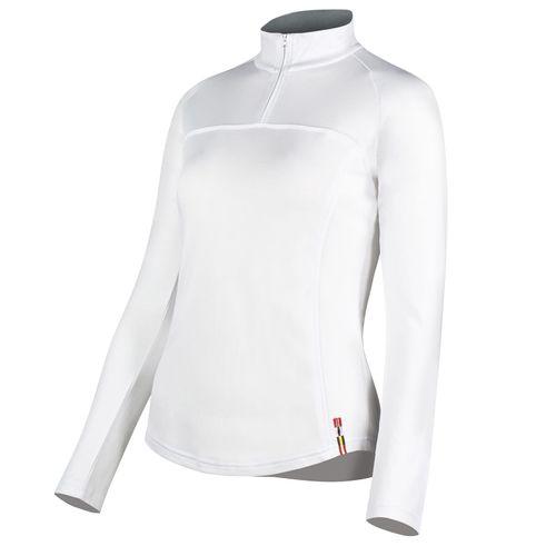Horze Women's Willow Long Sleeve Show Shirt - White