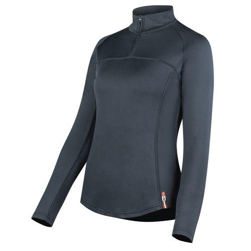 Horze Women's Willow Long Sleeve Show Shirt - Dark Navy
