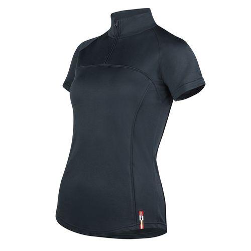 Horze Women's Willow Short Sleeve Show Shirt - Dark Navy