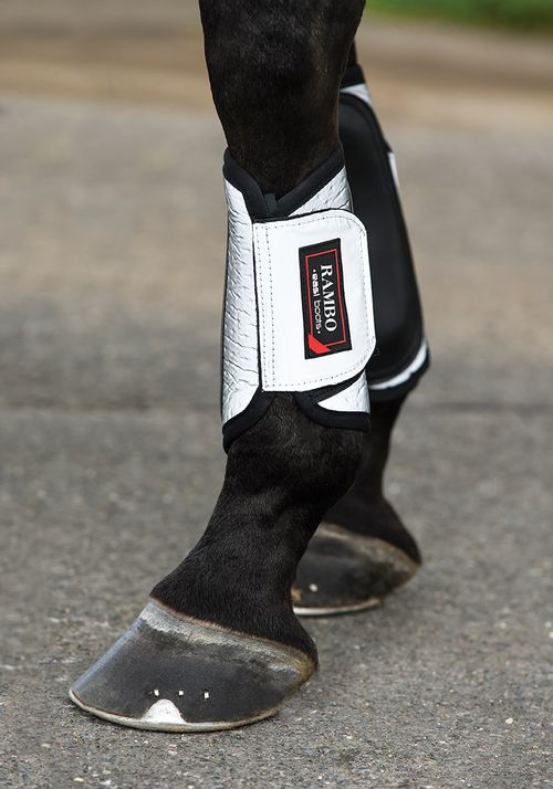 Rambo Reflective Night Rider Boots - Silver/Black