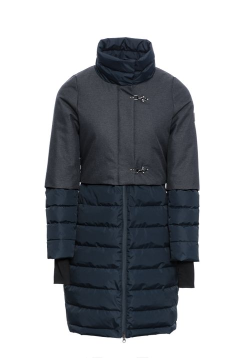 Alessandro Albanese Women's Venezia Long Padded Coat - Navy