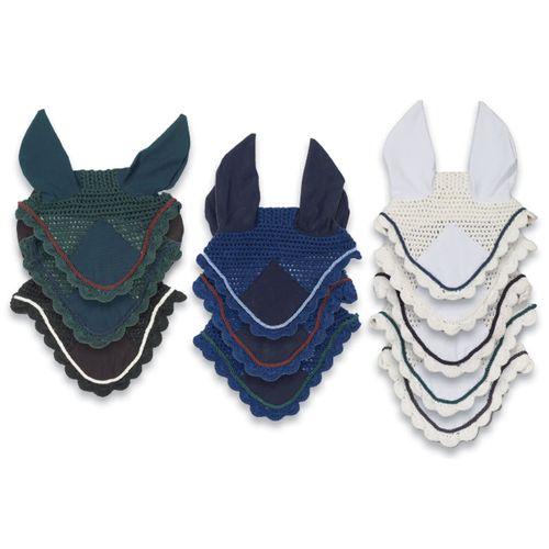 Ovation Pro Crochet Ear Net - Navy/Burgundy