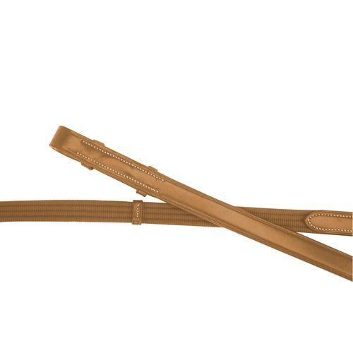 Silverleaf Long Web Reins - Golden Oak