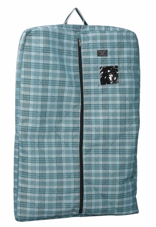 TuffRider Bonum Equestrian Garment Bag - Teal Plaid
