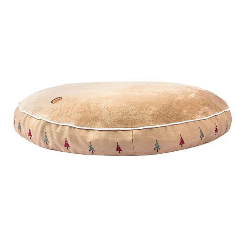 Halo Round Dog Bed - Safari/Christmas Tree
