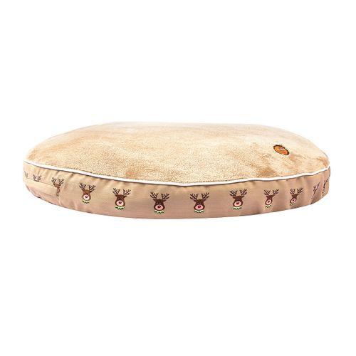 Halo Round Dog Bed - Safari/Reindeer