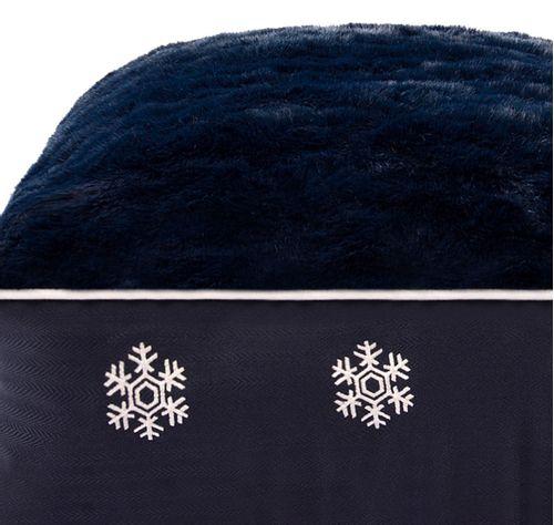Halo Rectangular Dog Bed - EC Navy/Snowflake