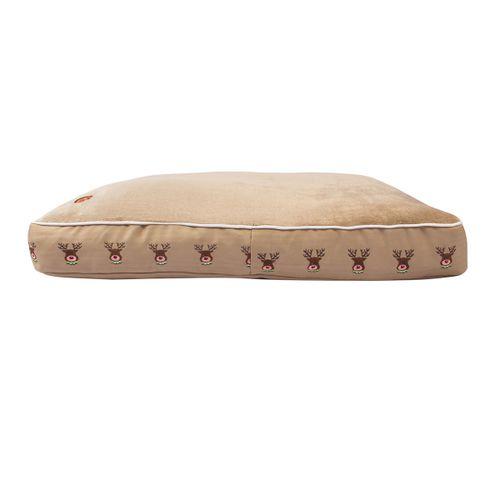 Halo Rectangular Dog Bed - Safari/Reindeer