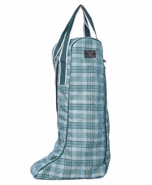 TuffRider Bonum Equestrian Boot Bag - Teal Plaid