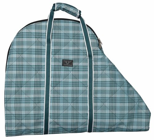 TuffRider Bonum Saddle Bag - Teal Plaid