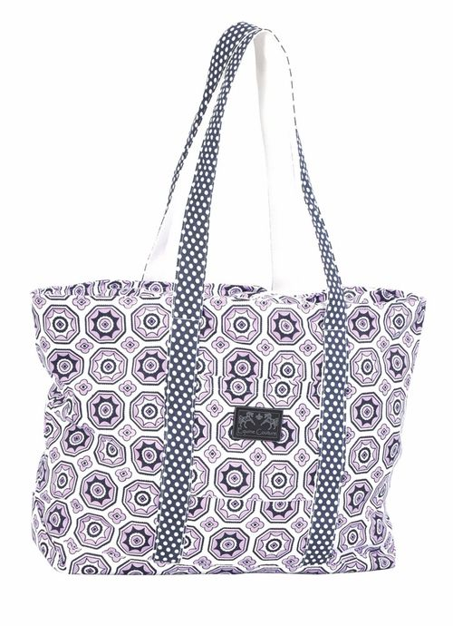 Equine Couture Kelsey Equestrian Tote Bag - Purple