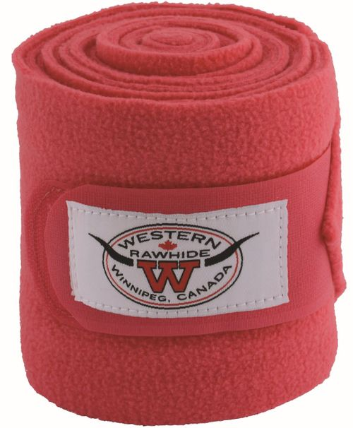 Western Rawhide Anti-Pilling Polo Wraps - Pink