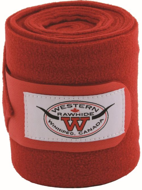 Western Rawhide Anti-Pilling Polo Wraps - Red