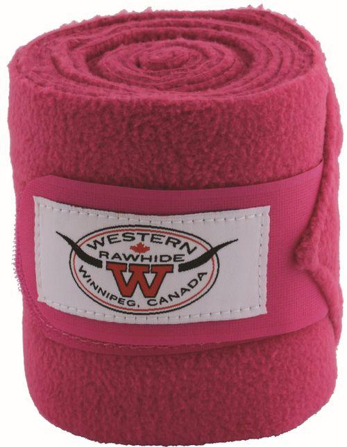 Western Rawhide Anti-Pilling Polo Wraps - Fuchsia