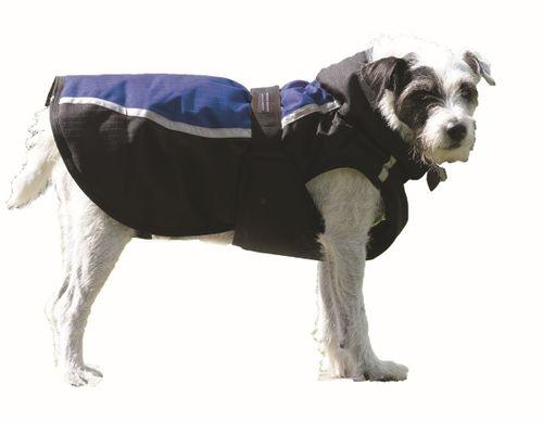 Western Rawhide Century Tiger Deluxe Dog Coat - Black/Royal