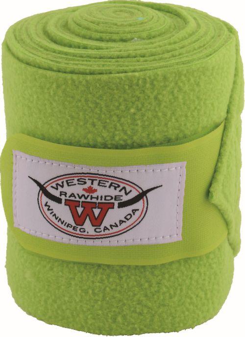Western Rawhide Anti-Pilling Polo Wraps - Lime Green