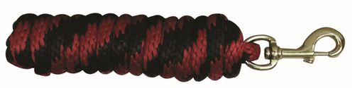 Western Rawhide 10' Poly Lead w/Brass Plated Snap - Black/Red