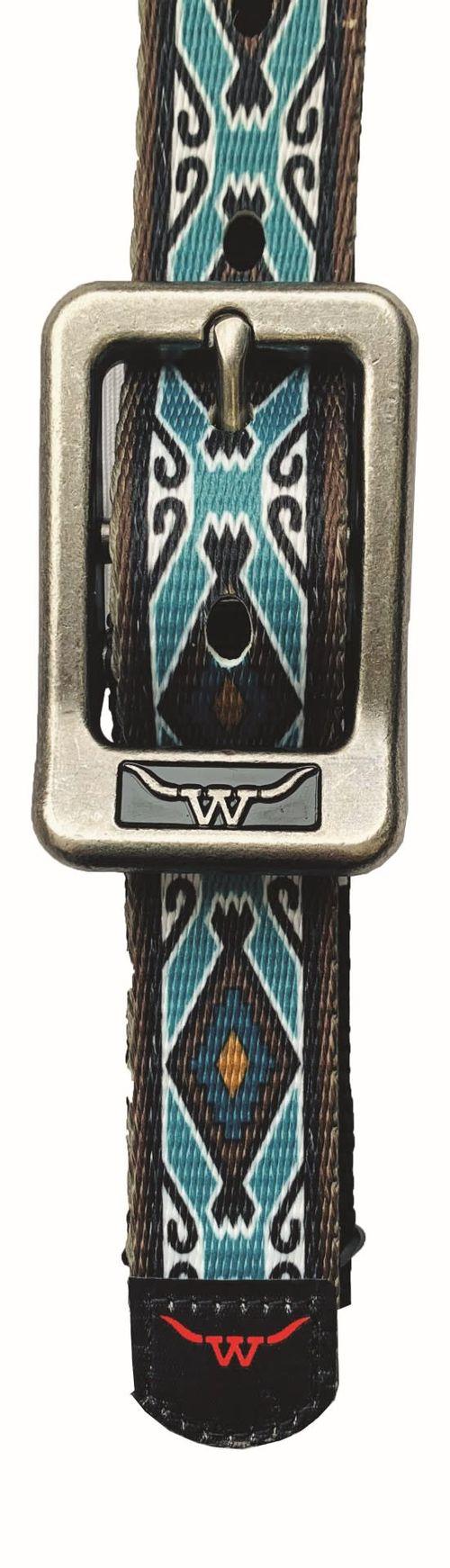 Western Rawhide Signature Pattern Halter - Black/Rhombus