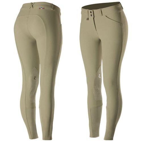Horze Women's Grand Prix Knee Patch Breeches - Tan